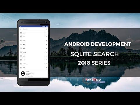 Android Development Tutorial - Search on SQLite data