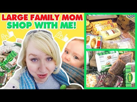 SHOP WITH ME FOR MY LARGE FAMILY + SHARP SHOPPER DISCOUNT GROCERY HAUL!
