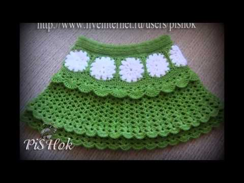 Crochet Knitted Skirts for Girls