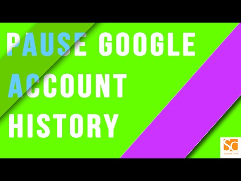 How to pause google account history on android