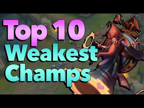 Top 10 Most Underpowered Champions in League of Legends History
