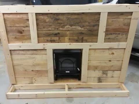 How to make homemade fireplace from pallets...DIY How to.