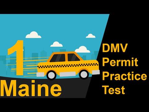 Maine DMV Permit Practice Test 1  -  2018