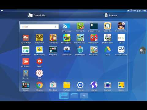 Creating a Folder of Apps - Samsung Tab for Edu