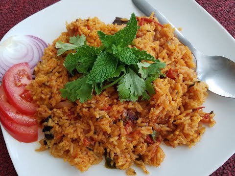 Tasty Tomato rice for Bachelors in Tamil with English subtitle |  Bachelors recipe| Tomato rice