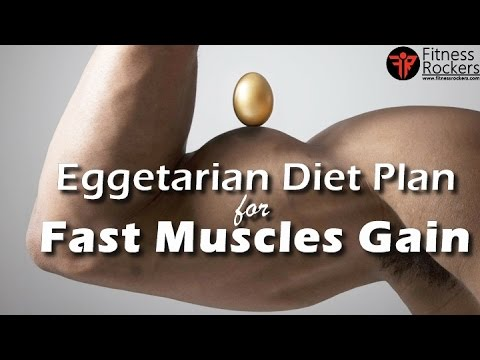 Bodybuilding diet tips | Vegetarian diet plan to gain muscle fast (with eggs) | Fitness Rockers