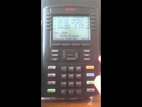 Avaya Voice Mail Setup