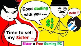 Download When a Gamer sells his Sister to buy a Gaming PC Video