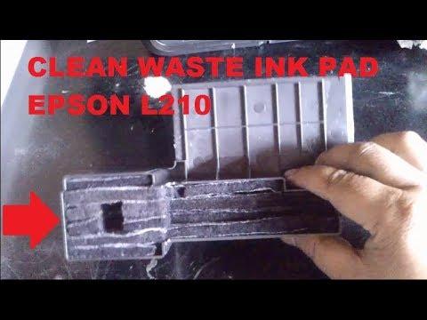 How to Clean Epson L210 Waste Ink Pad - Membersihkan Busa Tinta Pembuangan Epson L210