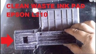 How to clean waste ink pad Epson L210, L220, L360, L380