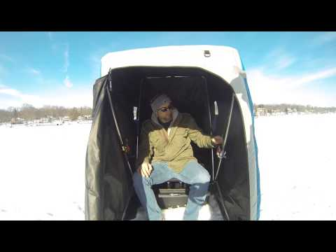 Pop Up Rod Holder for portable ice shelters!