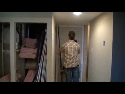 How to Cut Basement Doors to Fit in areas with low ceilings!