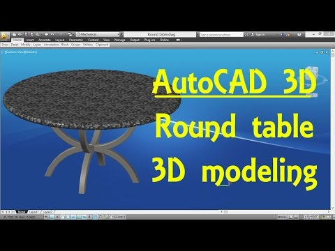 AutoCAD 3D Modeling 17 Round table By Engineer AutoCAD Tutorials