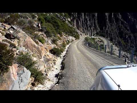 Driving down Ben Lomond - Tasmania