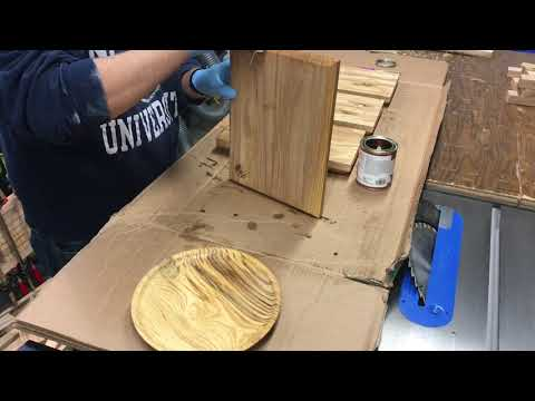Applying a Butcher Block Oil to Handmade Cutting Boards