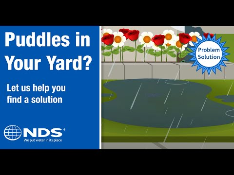 How do I prevent water puddling in my yard? NDS Yard Drainage Systems