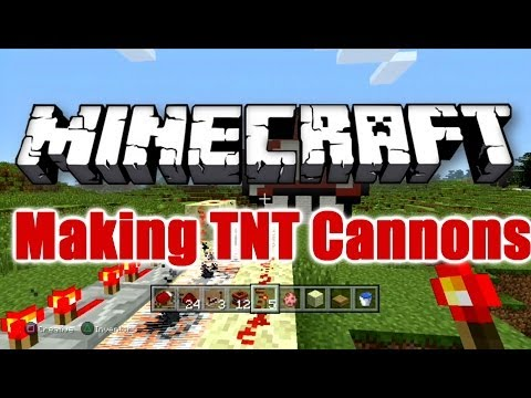 Minecraft PS4 - How To Make TNT Cannons