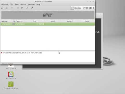 How to mount and add and delete partitions on a hard drive in Linux Mint