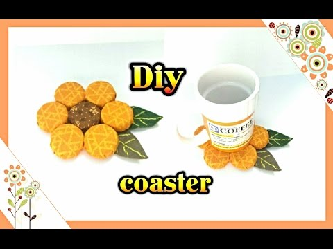 Diy: flower shaped  coaster out of recycled bottle caps