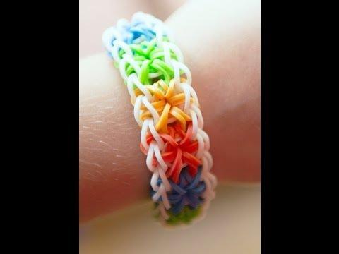 Rainbow loom starburst tutorial! (Beginners can do it too)