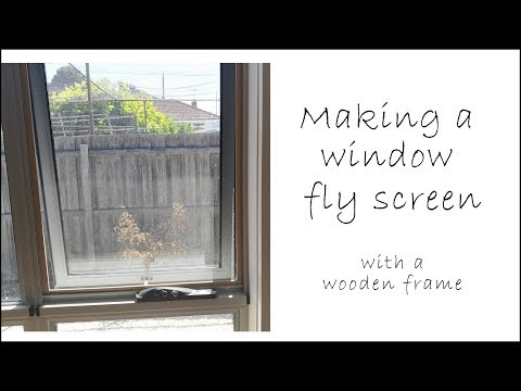 Making Window Fly Screens with a wooden frame