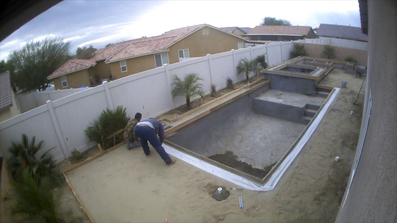 Pool and Backyard Construction Time Lapse at Che Bella