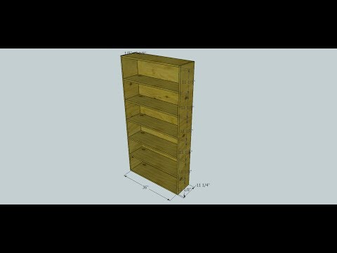 Simple Pine Shelf - Kreg Jig Project