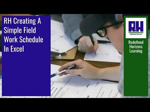 RH Creating A Simple Field Work Schedule In Excel