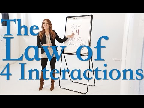 How to Close More Sales - The Law of 4 Interactions