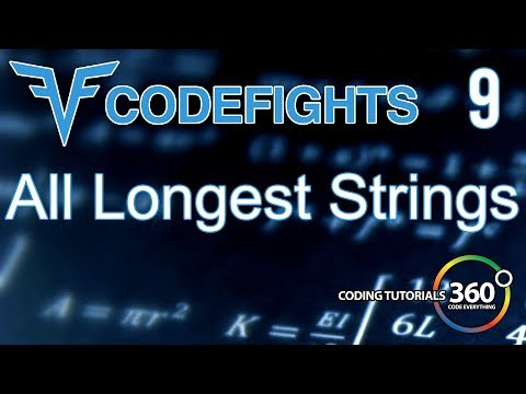 All Longest Strings   CodeFights Intro Algorithm JavaScript Solution and Breakdown