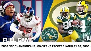Giants Upset Brett Favre in Lambeau   Giants vs. Packers 2007 NFC Championship   NFL Full Game