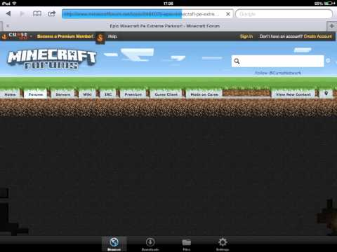 iOS 7 How to download custom maps minecraft PE! (No Computer) HD