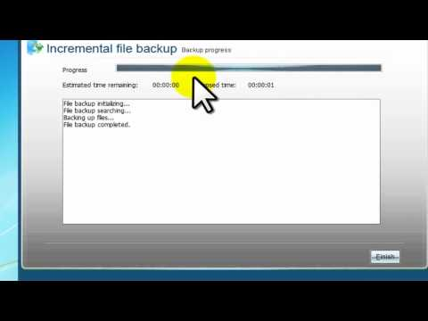 Incremental file backup with Easeus ToDo Backup