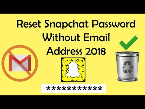 How to Reset Snapchat Password Without Email Address 2018