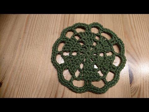 Crochet Gifts - Siem's Christmas Tree Coasters - Tutorial English