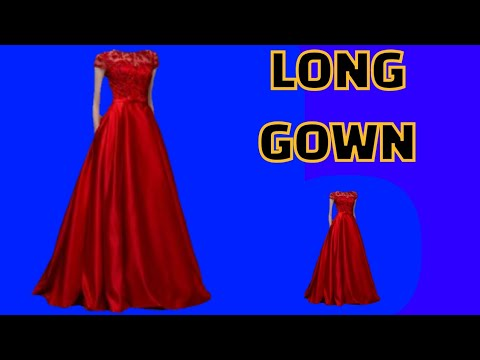 How to cut and stitch Full length long gown