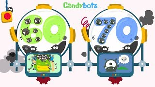 Candybots Numbers 123 - Learn counting 60 to 70 number - Education Apps for Kids