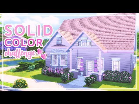 The Sims 4 - Solid Color Build Challenge | Pink
