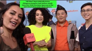 All That's Gabrielle Green, Chinguun Sergelen And Nathan Janak Interview - Kids' Choice Sports