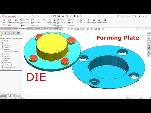 SolidWorks sheet metal Tutorial forming tool