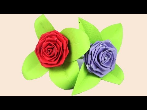 How to make a DIY Origami Paper Rose | TCraft