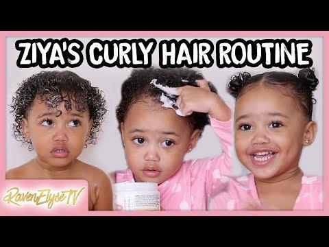 Ziya's HAIR ROUTINE | Toddler Curly Hair Tutorial