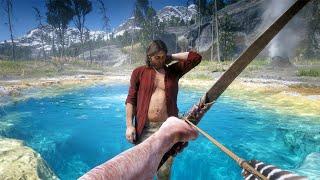 Red Dead Redemption 2 - Extreme Bow Gameplay Vol.13 (Euphoria Ragdolls)