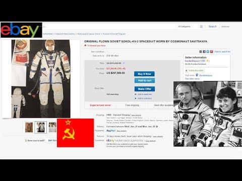 1982 Soviet SPACESUIT Selling on EBAY $250,000 1st Woman Space Walk Communist Svetlana Savitskaya
