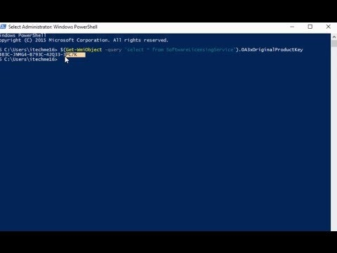 Windows 10 :How to Get Your Activated Product Key or licence  Key Using Powershell #computerrepair