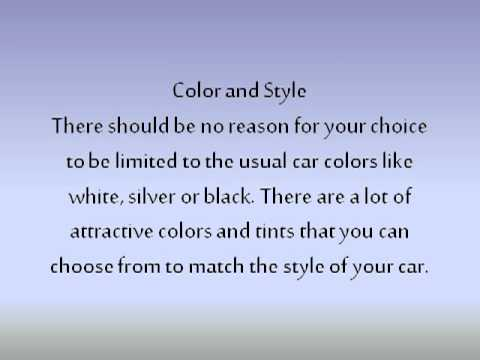 How to Choose the Right Color for Your Car