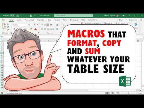 Excel Macros That Format, Copy and SUM Whatever Your Table Size