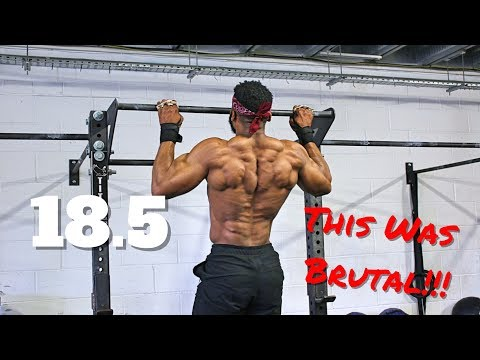 18.5 WORKOUT   This was BRUTAL  MY FIRST EVER CROSSFIT OPEN