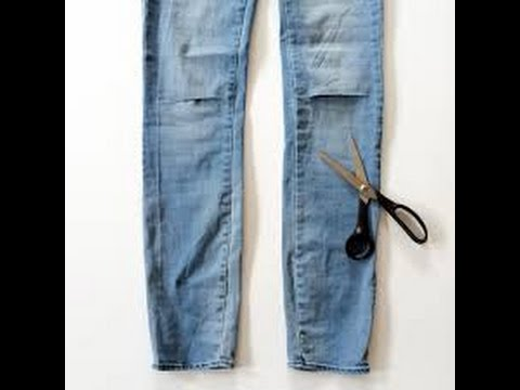 How To: DIY Slash/Cut up Jeans