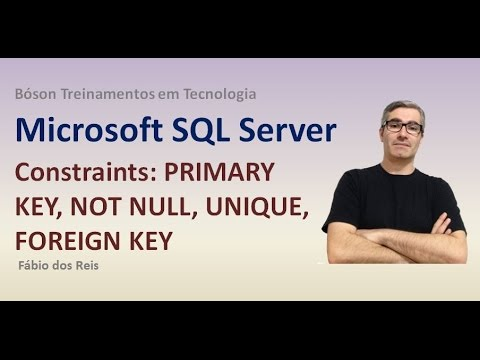 4 - T-SQL - CONSTRAINTS (Restrições) - PRIMARY KEY, NOT NULL, etc - SQL Server